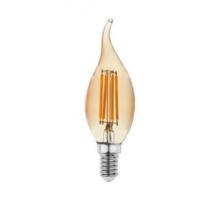 Akdeniz aydınlatma Global 4w E14 Kıvrık Uçlu Rustik Buji Ampül 15307