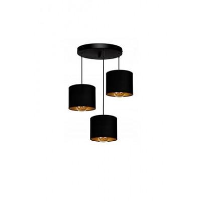 AKDENİZ AYDINLATMA ELEKTRİK MALZEMELERİ Akdeniz 3lü Gold Cylinder Lighting Lampshade 3LSLND